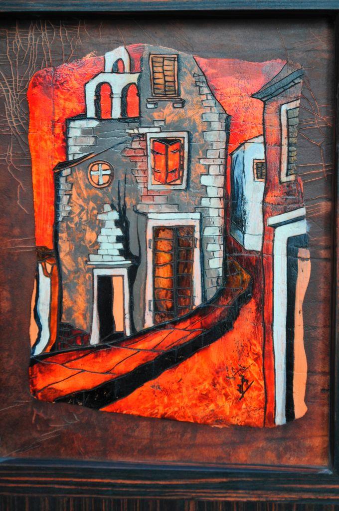 Motiv z ostrova Brač vesnice Dol